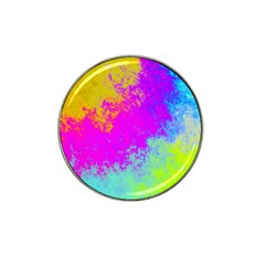 Grunge Radial Gradients Red Yellow Pink Cyan Green Hat Clip Ball Marker (4 Pack) by EDDArt