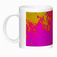 Grunge Radial Gradients Red Yellow Pink Cyan Green Night Luminous Mugs by EDDArt