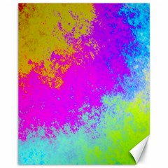 Grunge Radial Gradients Red Yellow Pink Cyan Green Canvas 11  X 14   by EDDArt
