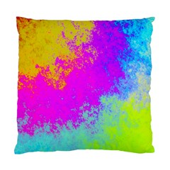 Grunge Radial Gradients Red Yellow Pink Cyan Green Standard Cushion Case (one Side) by EDDArt
