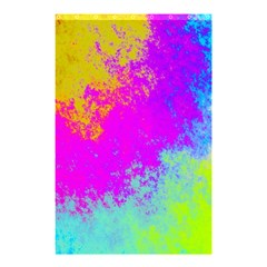 Grunge Radial Gradients Red Yellow Pink Cyan Green Shower Curtain 48  X 72  (small)  by EDDArt