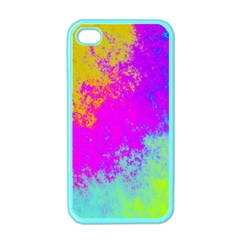Grunge Radial Gradients Red Yellow Pink Cyan Green Apple Iphone 4 Case (color) by EDDArt