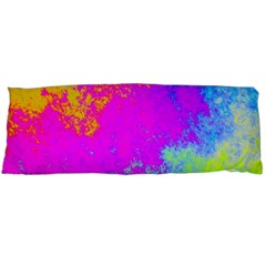 Grunge Radial Gradients Red Yellow Pink Cyan Green Body Pillow Case (dakimakura) by EDDArt