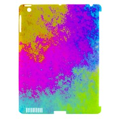 Grunge Radial Gradients Red Yellow Pink Cyan Green Apple Ipad 3/4 Hardshell Case (compatible With Smart Cover) by EDDArt