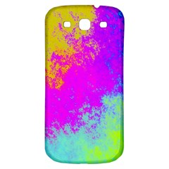 Grunge Radial Gradients Red Yellow Pink Cyan Green Samsung Galaxy S3 S Iii Classic Hardshell Back Case by EDDArt