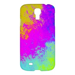 Grunge Radial Gradients Red Yellow Pink Cyan Green Samsung Galaxy S4 I9500/i9505 Hardshell Case by EDDArt