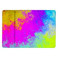 Grunge Radial Gradients Red Yellow Pink Cyan Green Samsung Galaxy Tab 10 1  P7500 Flip Case by EDDArt