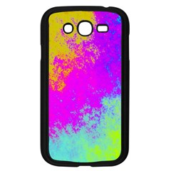 Grunge Radial Gradients Red Yellow Pink Cyan Green Samsung Galaxy Grand Duos I9082 Case (black) by EDDArt