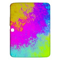 Grunge Radial Gradients Red Yellow Pink Cyan Green Samsung Galaxy Tab 3 (10 1 ) P5200 Hardshell Case  by EDDArt