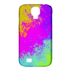 Grunge Radial Gradients Red Yellow Pink Cyan Green Samsung Galaxy S4 Classic Hardshell Case (pc+silicone) by EDDArt