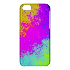 Grunge Radial Gradients Red Yellow Pink Cyan Green Apple Iphone 5c Hardshell Case by EDDArt
