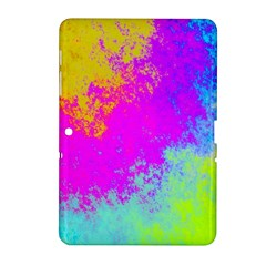 Grunge Radial Gradients Red Yellow Pink Cyan Green Samsung Galaxy Tab 2 (10 1 ) P5100 Hardshell Case  by EDDArt