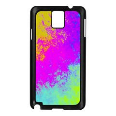 Grunge Radial Gradients Red Yellow Pink Cyan Green Samsung Galaxy Note 3 N9005 Case (black) by EDDArt