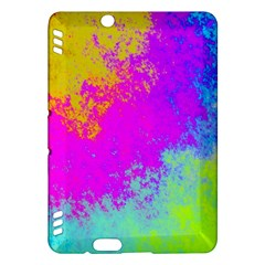 Grunge Radial Gradients Red Yellow Pink Cyan Green Kindle Fire Hdx Hardshell Case by EDDArt