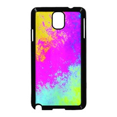 Grunge Radial Gradients Red Yellow Pink Cyan Green Samsung Galaxy Note 3 Neo Hardshell Case (black) by EDDArt