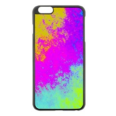 Grunge Radial Gradients Red Yellow Pink Cyan Green Apple Iphone 6 Plus/6s Plus Black Enamel Case by EDDArt