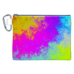 Grunge Radial Gradients Red Yellow Pink Cyan Green Canvas Cosmetic Bag (xxl) by EDDArt