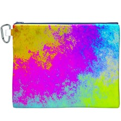 Grunge Radial Gradients Red Yellow Pink Cyan Green Canvas Cosmetic Bag (xxxl) by EDDArt