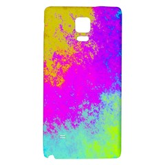 Grunge Radial Gradients Red Yellow Pink Cyan Green Galaxy Note 4 Back Case by EDDArt