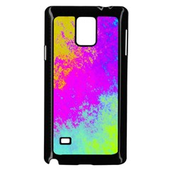 Grunge Radial Gradients Red Yellow Pink Cyan Green Samsung Galaxy Note 4 Case (black) by EDDArt