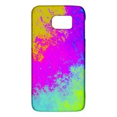 Grunge Radial Gradients Red Yellow Pink Cyan Green Galaxy S6 by EDDArt