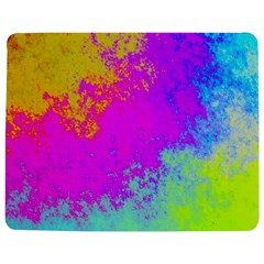 Grunge Radial Gradients Red Yellow Pink Cyan Green Jigsaw Puzzle Photo Stand (rectangular) by EDDArt