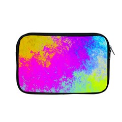 Grunge Radial Gradients Red Yellow Pink Cyan Green Apple Macbook Pro 13  Zipper Case by EDDArt
