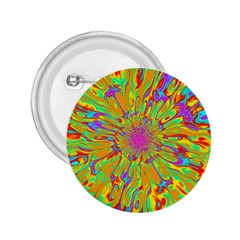 Magic Ripples Flower Power Mandala Neon Colored 2 25  Buttons by EDDArt