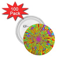Magic Ripples Flower Power Mandala Neon Colored 1 75  Buttons (100 Pack)  by EDDArt