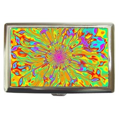 Magic Ripples Flower Power Mandala Neon Colored Cigarette Money Cases by EDDArt