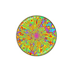 Magic Ripples Flower Power Mandala Neon Colored Hat Clip Ball Marker (4 Pack) by EDDArt
