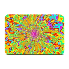 Magic Ripples Flower Power Mandala Neon Colored Plate Mats by EDDArt