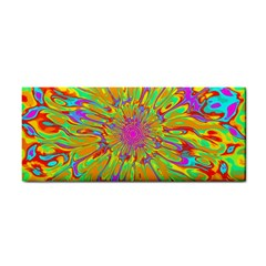 Magic Ripples Flower Power Mandala Neon Colored Cosmetic Storage Cases by EDDArt