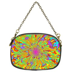 Magic Ripples Flower Power Mandala Neon Colored Chain Purses (two Sides)  by EDDArt