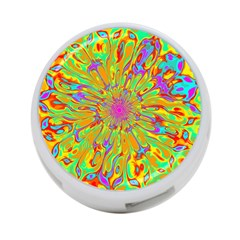 Magic Ripples Flower Power Mandala Neon Colored 4 Port Usb Hub (two Sides)  by EDDArt