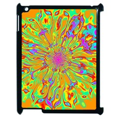 Magic Ripples Flower Power Mandala Neon Colored Apple Ipad 2 Case (black) by EDDArt