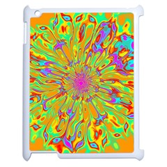 Magic Ripples Flower Power Mandala Neon Colored Apple Ipad 2 Case (white) by EDDArt
