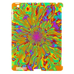 Magic Ripples Flower Power Mandala Neon Colored Apple Ipad 3/4 Hardshell Case (compatible With Smart Cover) by EDDArt