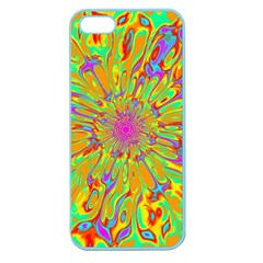 Magic Ripples Flower Power Mandala Neon Colored Apple Seamless Iphone 5 Case (color) by EDDArt