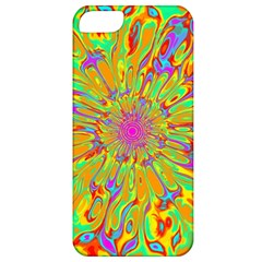 Magic Ripples Flower Power Mandala Neon Colored Apple Iphone 5 Classic Hardshell Case by EDDArt