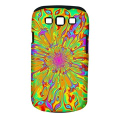 Magic Ripples Flower Power Mandala Neon Colored Samsung Galaxy S Iii Classic Hardshell Case (pc+silicone) by EDDArt