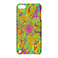 Magic Ripples Flower Power Mandala Neon Colored Apple Ipod Touch 5 Hardshell Case With Stand by EDDArt