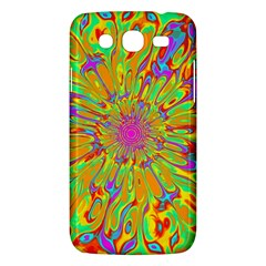Magic Ripples Flower Power Mandala Neon Colored Samsung Galaxy Mega 5 8 I9152 Hardshell Case  by EDDArt