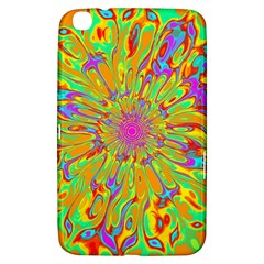 Magic Ripples Flower Power Mandala Neon Colored Samsung Galaxy Tab 3 (8 ) T3100 Hardshell Case  by EDDArt