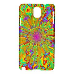 Magic Ripples Flower Power Mandala Neon Colored Samsung Galaxy Note 3 N9005 Hardshell Case by EDDArt
