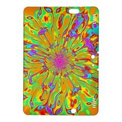 Magic Ripples Flower Power Mandala Neon Colored Kindle Fire Hdx 8 9  Hardshell Case by EDDArt