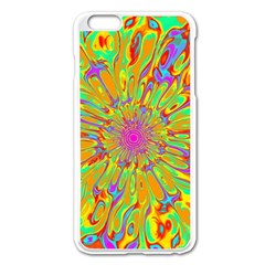 Magic Ripples Flower Power Mandala Neon Colored Apple Iphone 6 Plus/6s Plus Enamel White Case by EDDArt