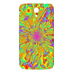 Magic Ripples Flower Power Mandala Neon Colored Samsung Galaxy Mega I9200 Hardshell Back Case by EDDArt