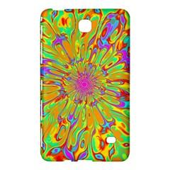 Magic Ripples Flower Power Mandala Neon Colored Samsung Galaxy Tab 4 (8 ) Hardshell Case  by EDDArt