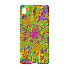 Magic Ripples Flower Power Mandala Neon Colored Sony Xperia Z3+ by EDDArt